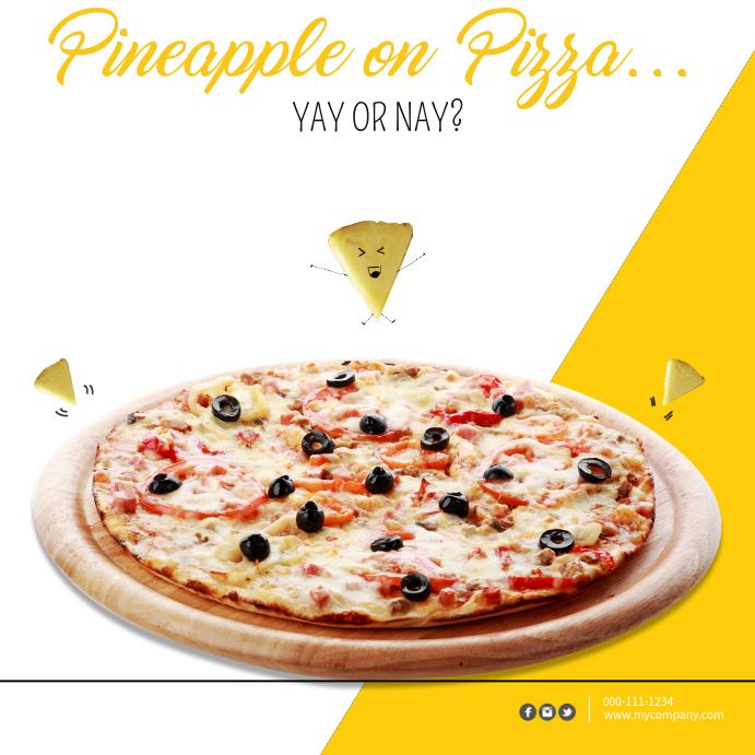 Plantilla de Piña Pizza Plantilla Facebook   PosterMyWall