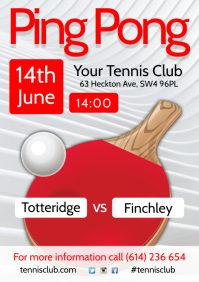 Ping Pong Match Flyer