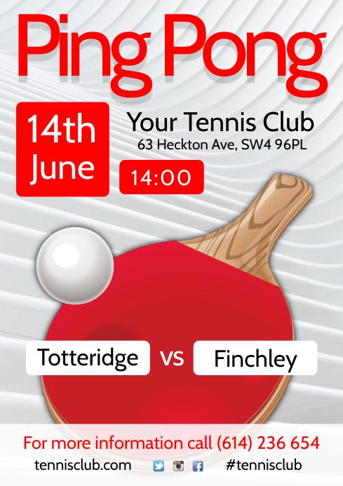 Ping Pong Match Flyer