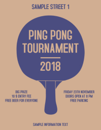 Ping Pong Tournament Flyer