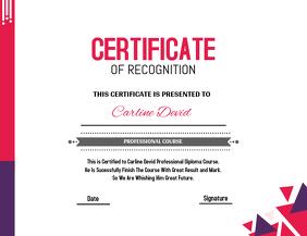 Pink & Purple Certificate Template Flyer (US Letter)