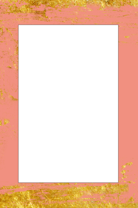 2d709aded18 Pink   Gold Party Prop Frame · Customize template