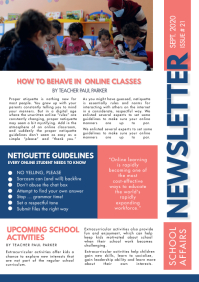Pink and Blue Custom Newsletter Template