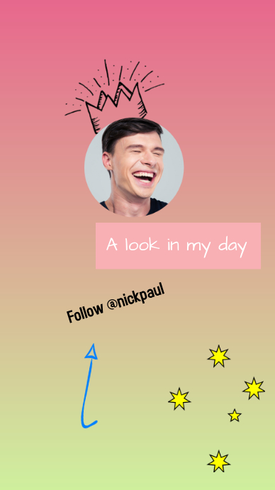 Pink and Green A Look In My Day TikTok Frame Instagram Story template