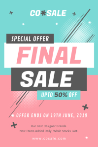 Pink and Green Final Sale Poster