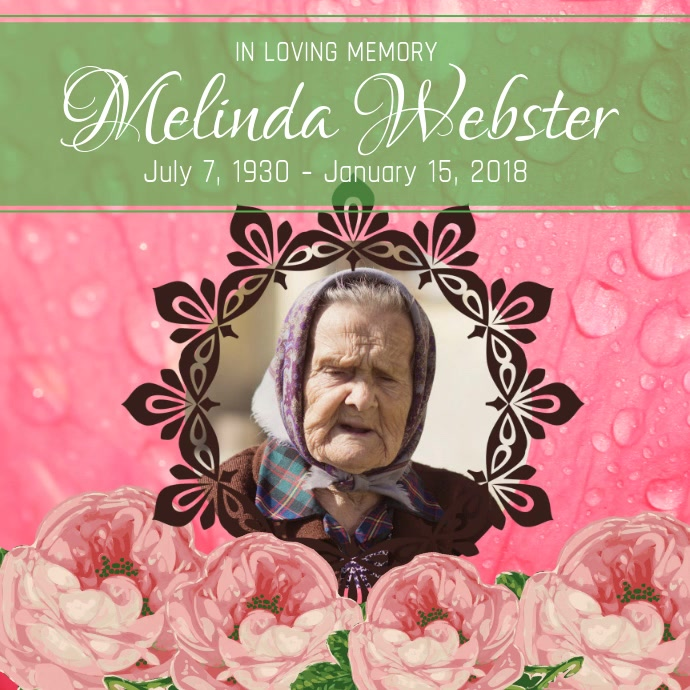 Pink and Green Obituary Square Video