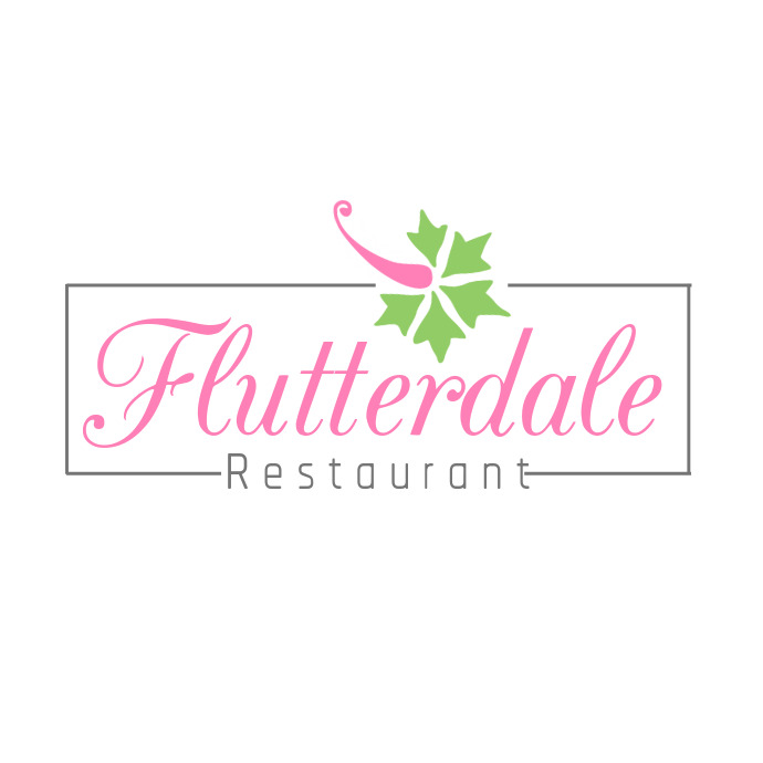 Pink and Green Restaurant Logo