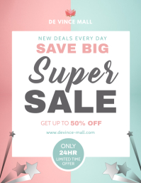 Pink and Green Sale Flyer
