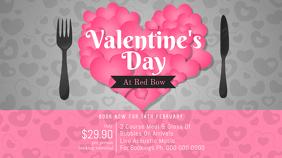 Pink and Grey Valentine Dinner Landscape Image