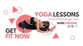 pink and grey yoga lessons youtube thumbnail template