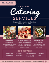 Pink and Purple Food Catering Service Flyer T ใบปลิว (US Letter) template