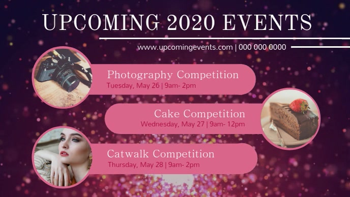 Pink and Purple Upcoming Events Facebook Cove