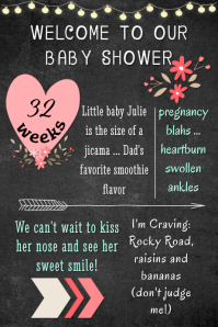 Pink Baby Girl Welcome Poster