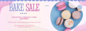 Pink Bake Sale for School FB Cover Facebook 封面图片 template