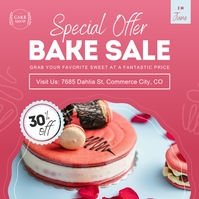Pink Bake Sale Instagram Image template