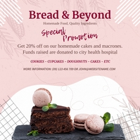 Pink Bakers Ad Instagram Image template
