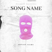 PINK BALACLAVA Mixtape Cover Art Template