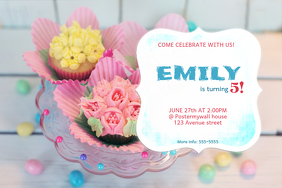 Pink Birthday Invitation Template
