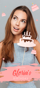 Pink Birthday Snapchat Filter