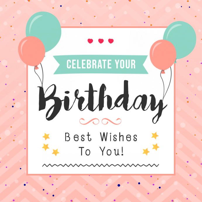Pink Birthday Wish Instagram Post Template