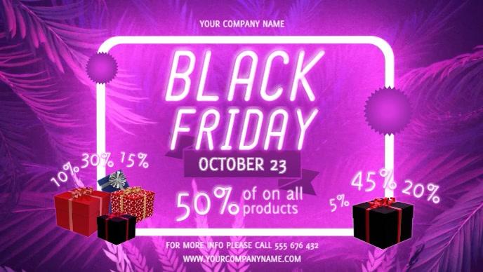 Pink Black Friday Sale Facebook Cover Video