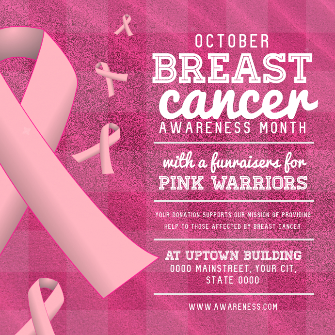 Pink Breast Cancer Awareness Square Image