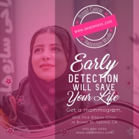 Pink Breast Cancer Early Detetection Instagram Image template