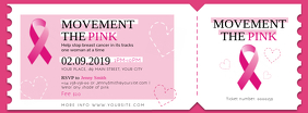 Pink Breast Cancer Event Ticket Facebook Cover