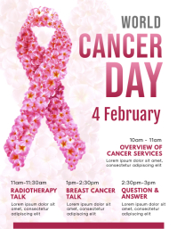 Pink Cancer Day Information Flyer