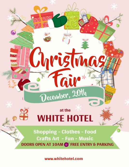 Pink Christmas Market Flyer