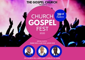PINK CHURCH CONFERENCE GOSPEL FLYER