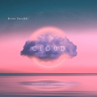Pink Cloud CD Cover Music Portada de Álbum template