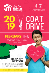 Pink Coat Drive Fundraiser Poster