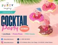 Pink Cocktail Party Slideshow Flyer Iflaya (Incwadi ye-US) template