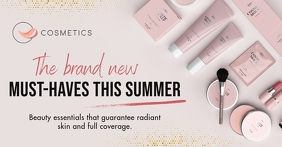 Pink Cosmetic Store Facebook Shop Cover template