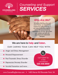 Pink Counseling Services Flyer