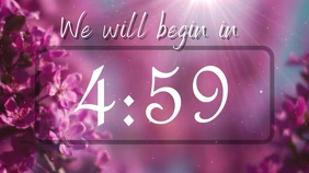pink countdown Digital Display (16:9) template