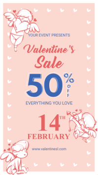 Pink Cupid Valentine's Sale Digital Display Ad