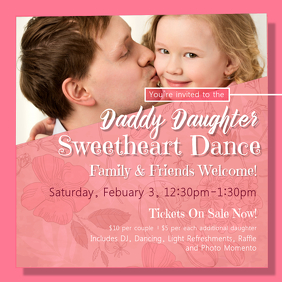 Pink Daddy Daughter Dance Instagram Post