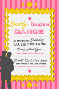 Pink Daddy Daughter Dance Poster