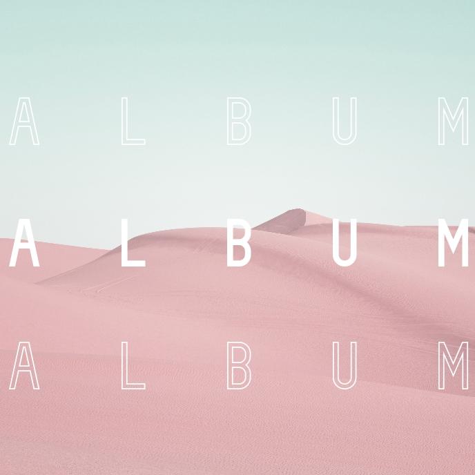 Pink Desert artistic album cover photography 专辑封面 template