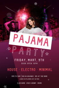 Pink Disco Pajama Party Poster