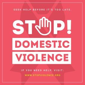 Pink Domestic Violence Instagram Image template