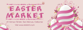 Pink Easter Marketplace Advert Banner Facebook Cover Photo template