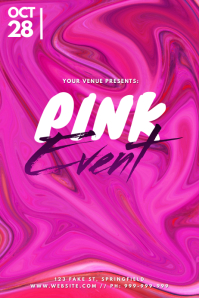 Pink Event Poster Plakat template