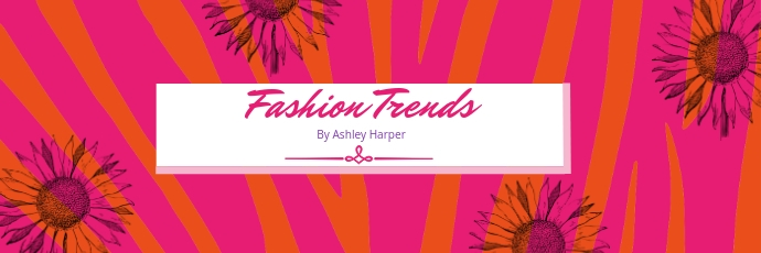 Pink Fashion Brand Twitter Banner Twitter-header template