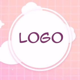 pink fashion girls logo TEMPLATE