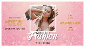 Pink Fashion Show Digital Display Landscape Video template