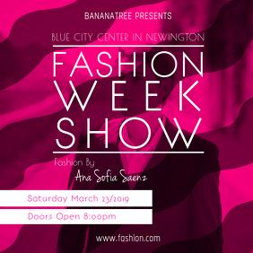 Pink Fashion Show Instagram Post