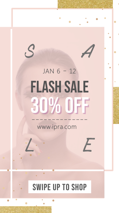 Pink Flash Sale Instagram Story Template